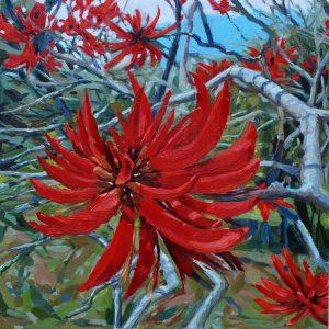 Sarah Waghorn_CORAL GLORY_50 x 50cm_oil on canvas board_$880