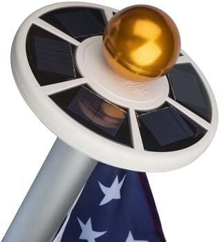 4: Sunnytech 2nd Generation Solar Flag Pole