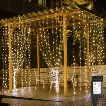 6: LE 306 LED Curtain Lights 9.8 x 9.8 ft. Fairy String Lights