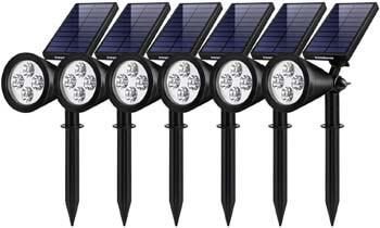 3: InnoGear Solar Lights Outdoor, Upgraded Waterproof Solar Powered Landscape Spotlights