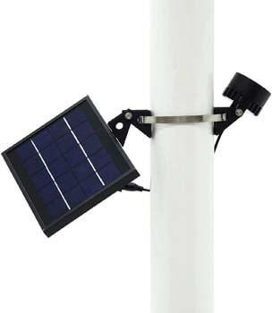 8: Mini 120X Solar Powered Flag Pole Light (Warm White LED)