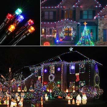 6: Joomer Christmas Lights, Battery Operated 66ft 200 LED String Lights