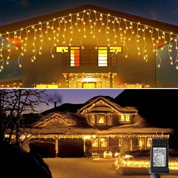 7: Blingstar Icicle Lights 33Ft 300 Led 8 Modes Christmas Lights