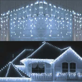 3: Joomer LED Icicle Lights, 300 LED 19.6Ft 8 Modes