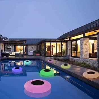 4: GEEDIAR Floating Pool Lights Solar Swimming Pool Light