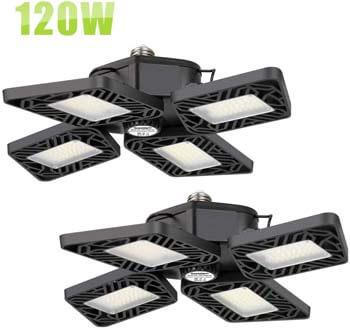 3: Axcelight 120W LED Garage Lights, 12,000 Lumens Super Bright Garage Ceiling Lights