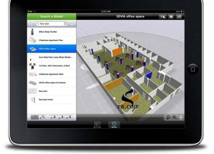 Dassault Systèmes, iPhone'dan sonra iPad'ler için de 3D görüntüleyici geliştirdi