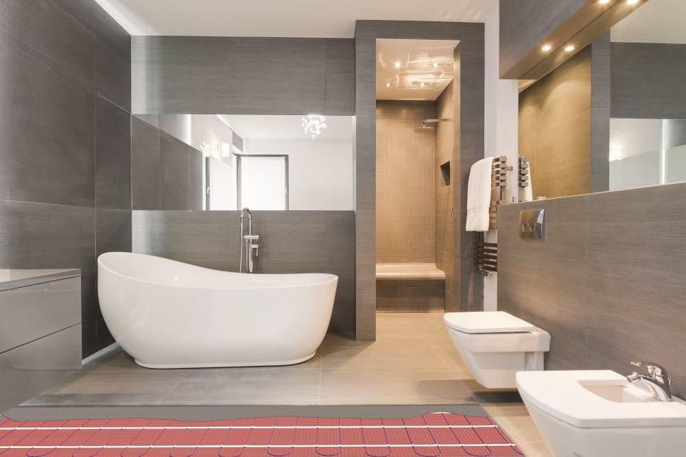 Vloerverwarming (elektrisch) badkamer