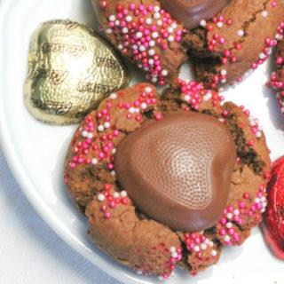 Chocolate Peanut Butter Valentine's Cookies