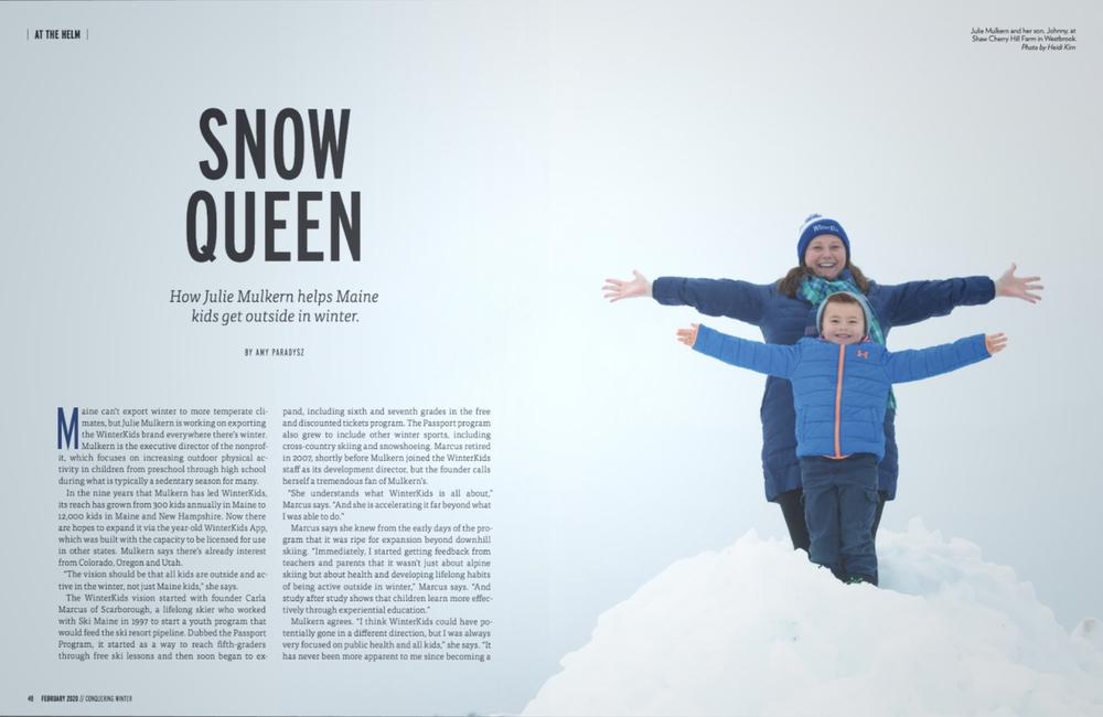 Maine Women Mag February 2020 Snow Queen 01