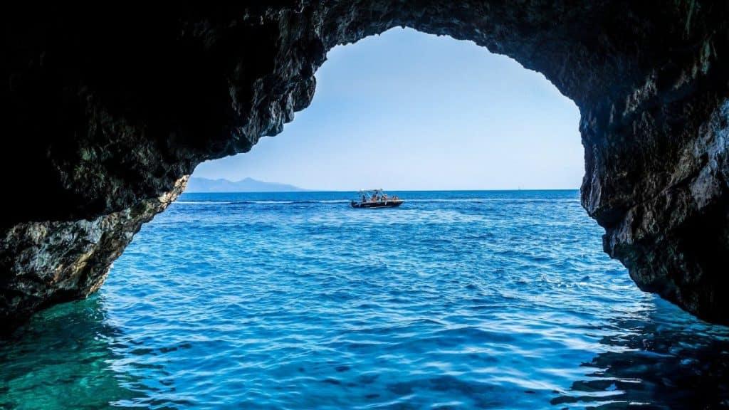 Blue cave, Zakynthos, Greece