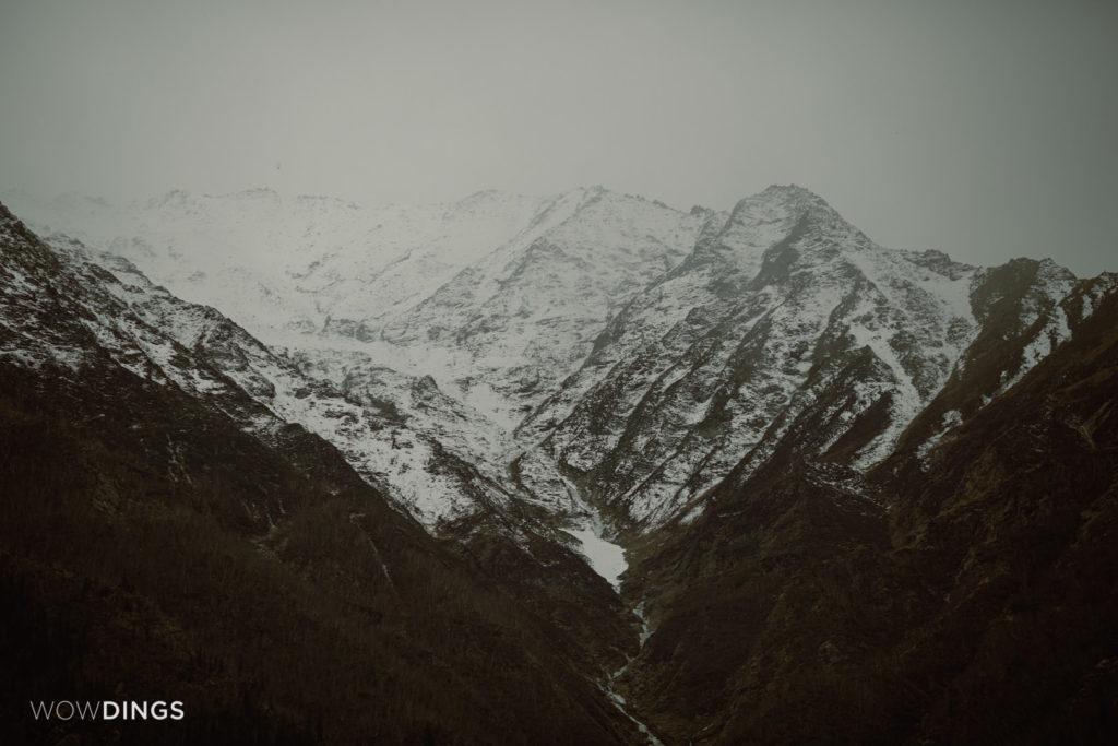 Kailash mountain in Kalpa, Himachal