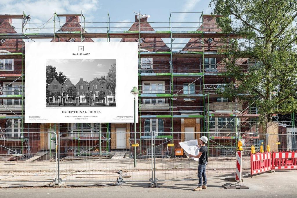 Düsseldorf-Oberkassel Rubensstrasse Fassade Bauschild