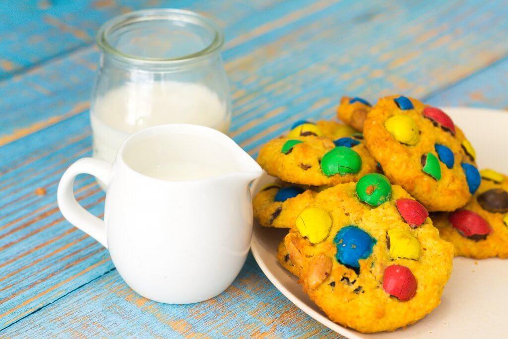Peanut M&M Cookies - served
