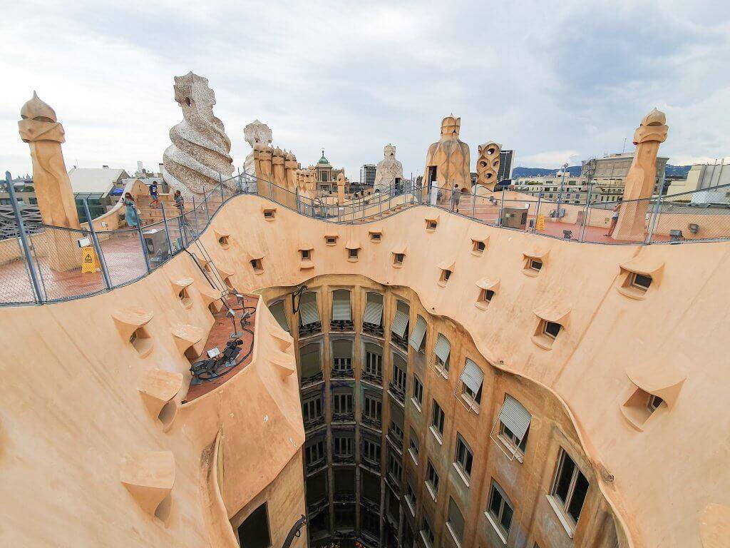 Casa Mila (La Pedrera), Barcelona - Full Guide - Rooftop 360 View