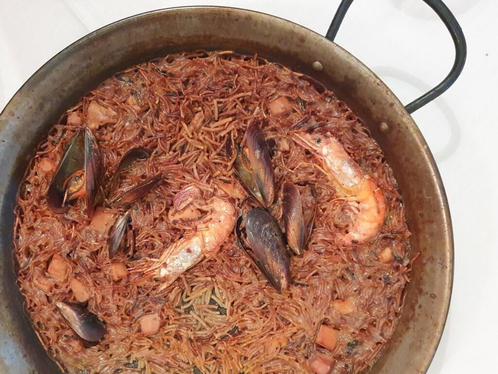 Weekend Trip To Girona, Spain - seafood fideua