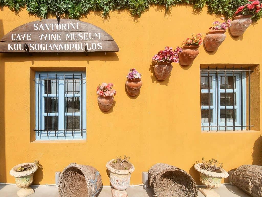 Best things to do in Santorini - wine museum