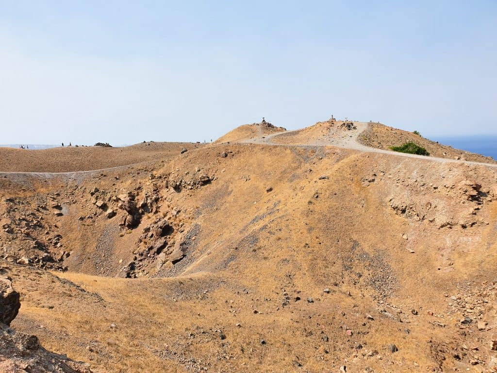 Best things to do in Santorini - volcano crater