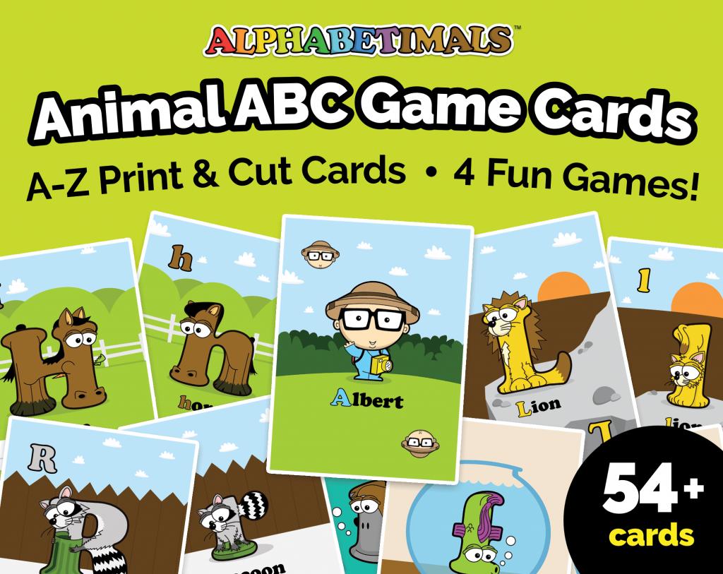 Alphabetimals ABC Game Cards - Printables