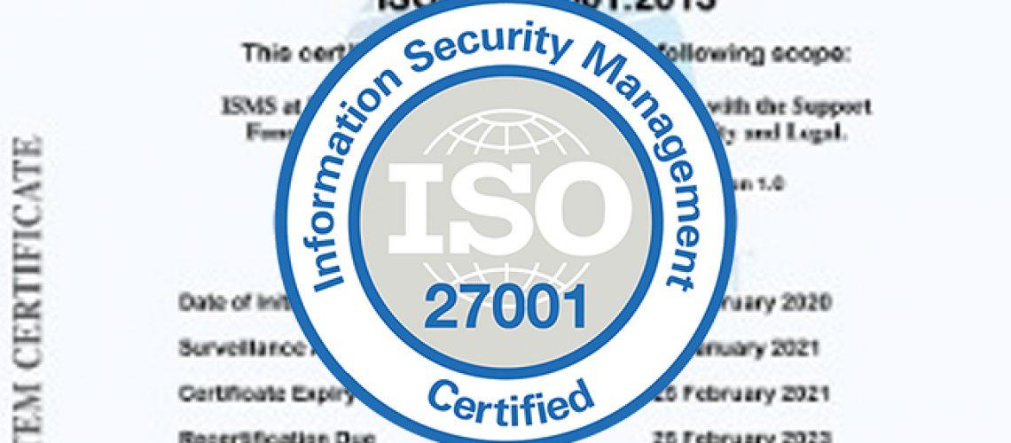 Powermatrix / Enerex - ISO 27001 Certification