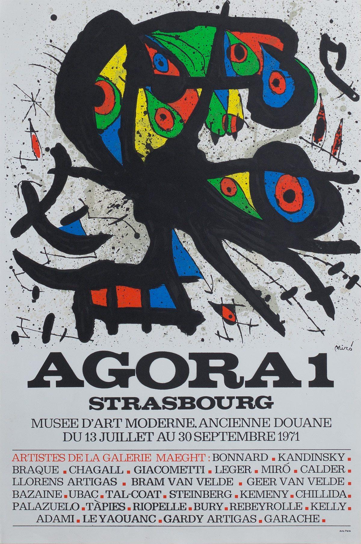 Affiche de l'exposition Agora 1 à Strasbourg. Archives Le Yaouanc. Photo: Luc Delaborde.