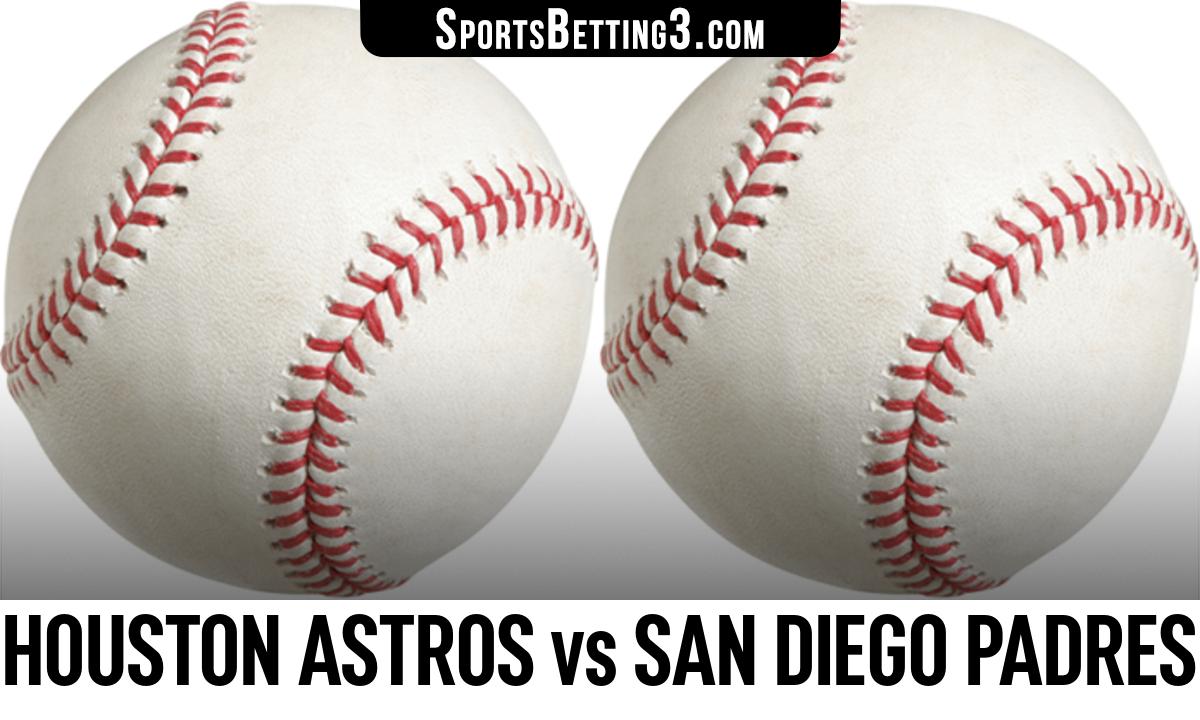 Houston Astros vs San Diego Padres Betting Odds