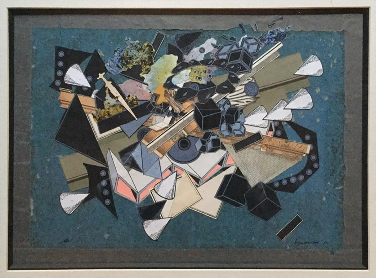 Sans-titre, 1970. Collage et gouache, coll. privée, Genève. Photo: Allen Le Yaouanc