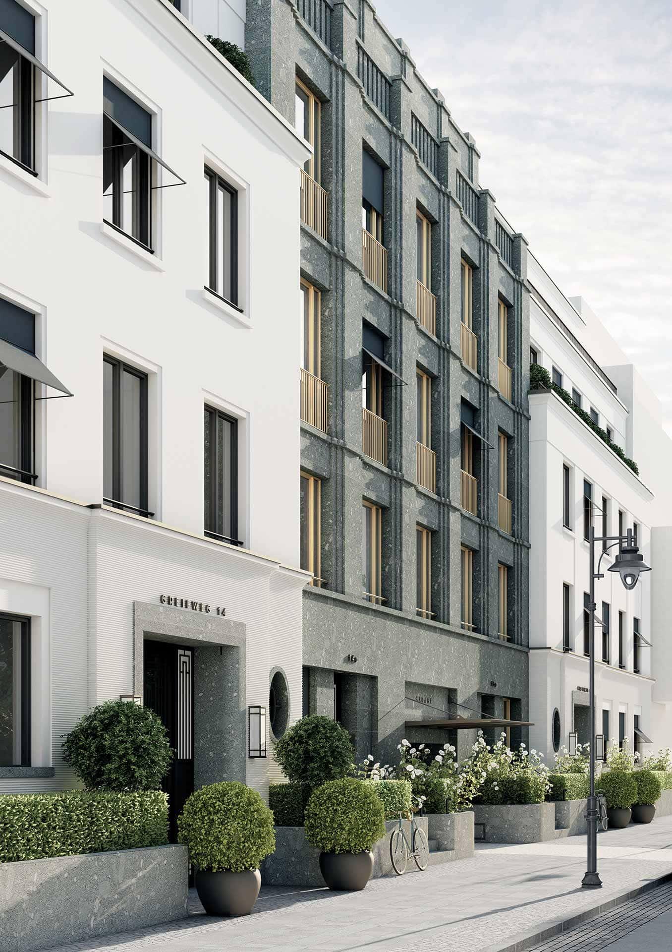 Düsseldorf-Oberkassel Greifweg Fassadenansicht