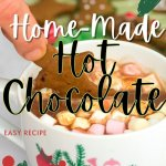 home-made hot chocolate recipe (without cocoa powder) - PIN2