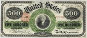 1863 $500 Legal Tender Red Seal