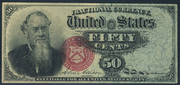 1863 4th Issue 50 Cent Note Small Red Seal