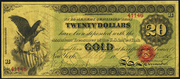 1863 $20 Gold Certificate Red Seal
