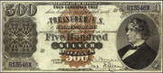 1878 $500 Silver Certificates Red Seal with Rays