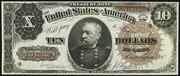 1890 $10 Treasury Note Brown Seal