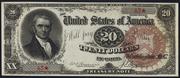 1890 $20 Treasury Note Brown Seal