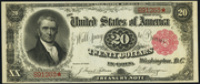 1891 $20 Treasury Note Red Seal