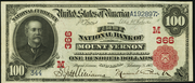 1902 $100 National Bank Notes Red Seal