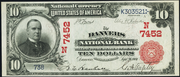 1902 $10 National Bank Notes Red Seal