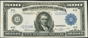 1918 $500 Federal Reserve Note Blue Seal