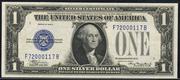 1928E $1 Silver Certificates Blue Seal