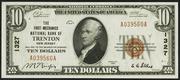 1929 $10 National Bank Notes Brown Seal