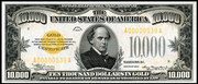 1934 $10000 Gold Certificate Gold Seal