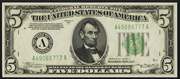 1934A $5 Federal Reserve Note Green Seal