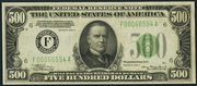 1934B $500 Federal Reserve Note Green Seal