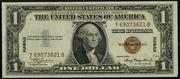 1935A $1 World War II Emergency Note Brown Seal