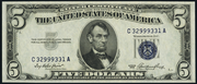 1953 $5 Silver Certificates Blue Seal