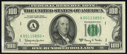 1969A $100 Federal Reserve Note Green Seal