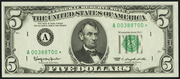 1969B $5 Federal Reserve Note Green Seal