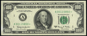 1974 $100 Federal Reserve Note Green Seal