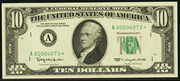 1977A $10 Federal Reserve Note Green Seal